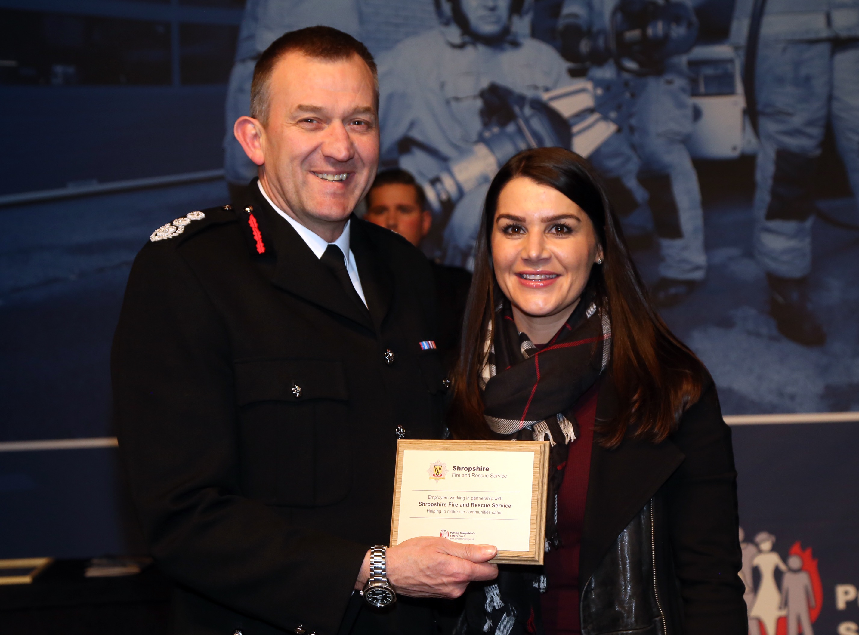 Amy Mitchell with her award from Mr Rod Hammerton