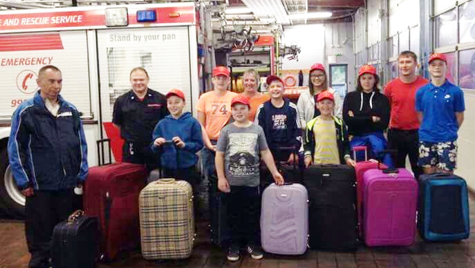 "Chernobyl children arrived at Manchester Airport with only the clothes they ""stood up in"" but departed with two suitcases each packed with supplies donated by local organisations."