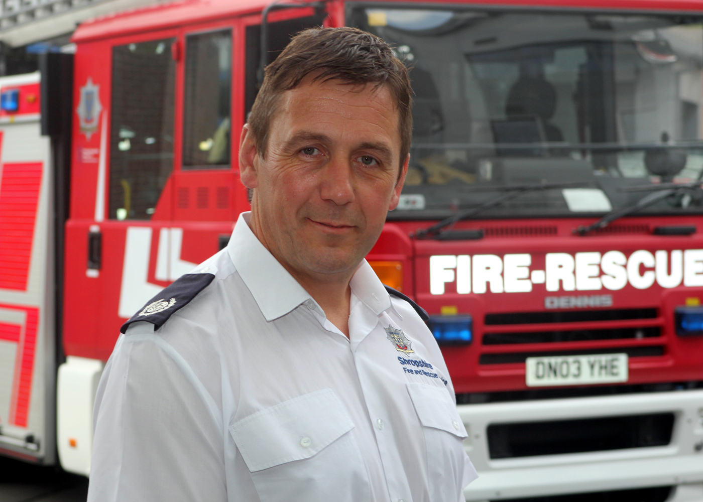 Group Commander Neil Griffiths who worked to set up Fes in Shropshire