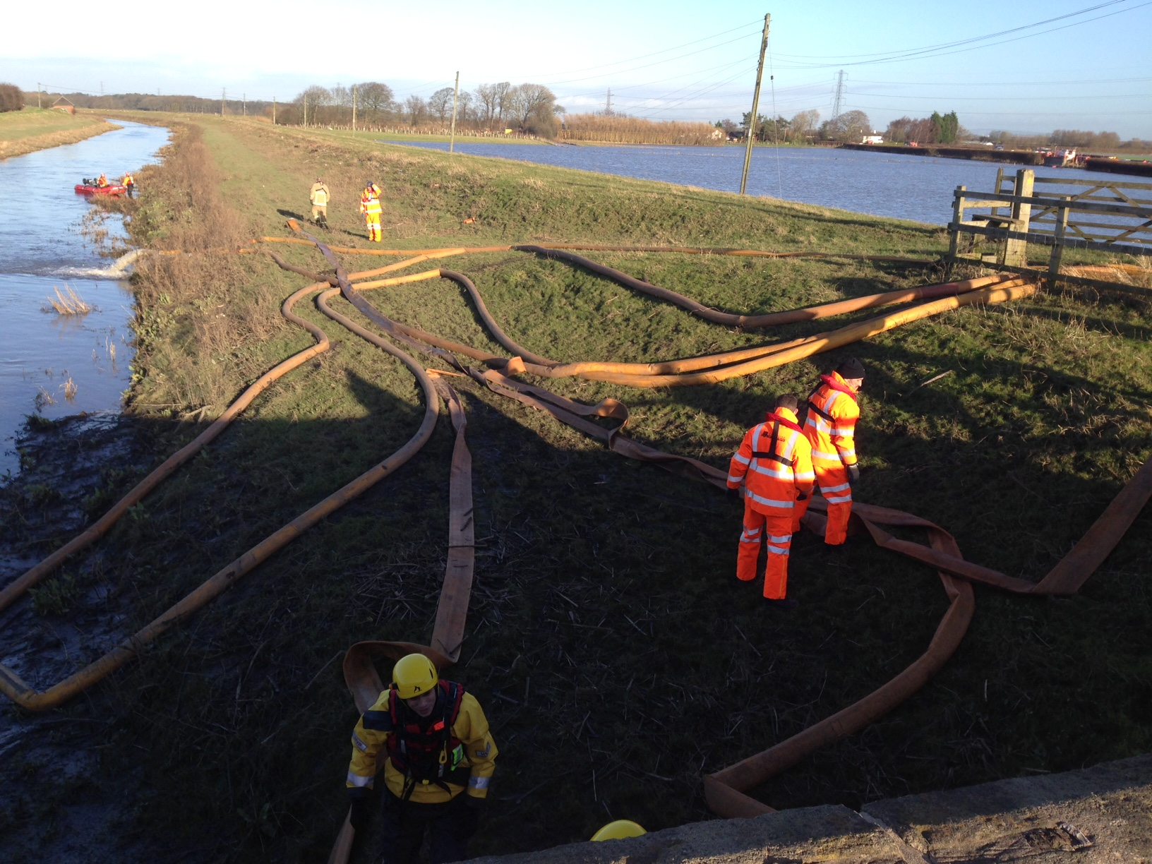 Flood scene in Lancashire attended by Shropshire fire crew