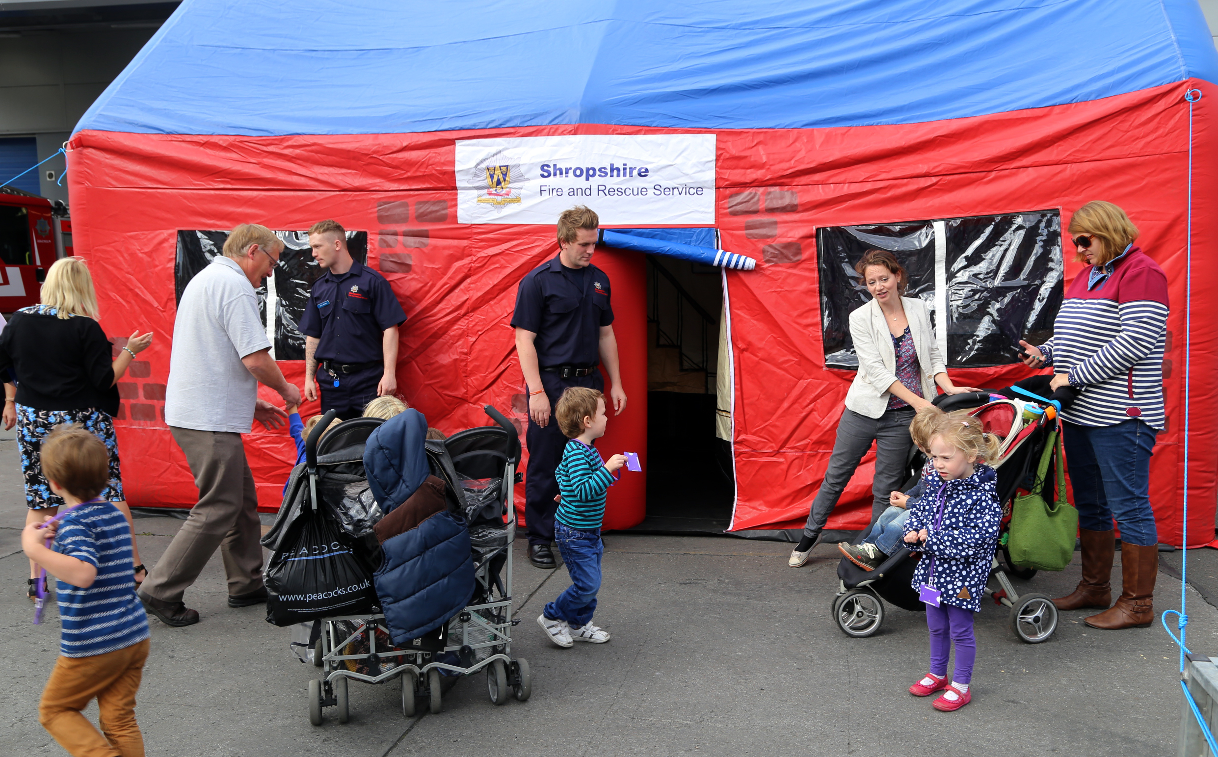 Plenty of visits to the educational smoke tent