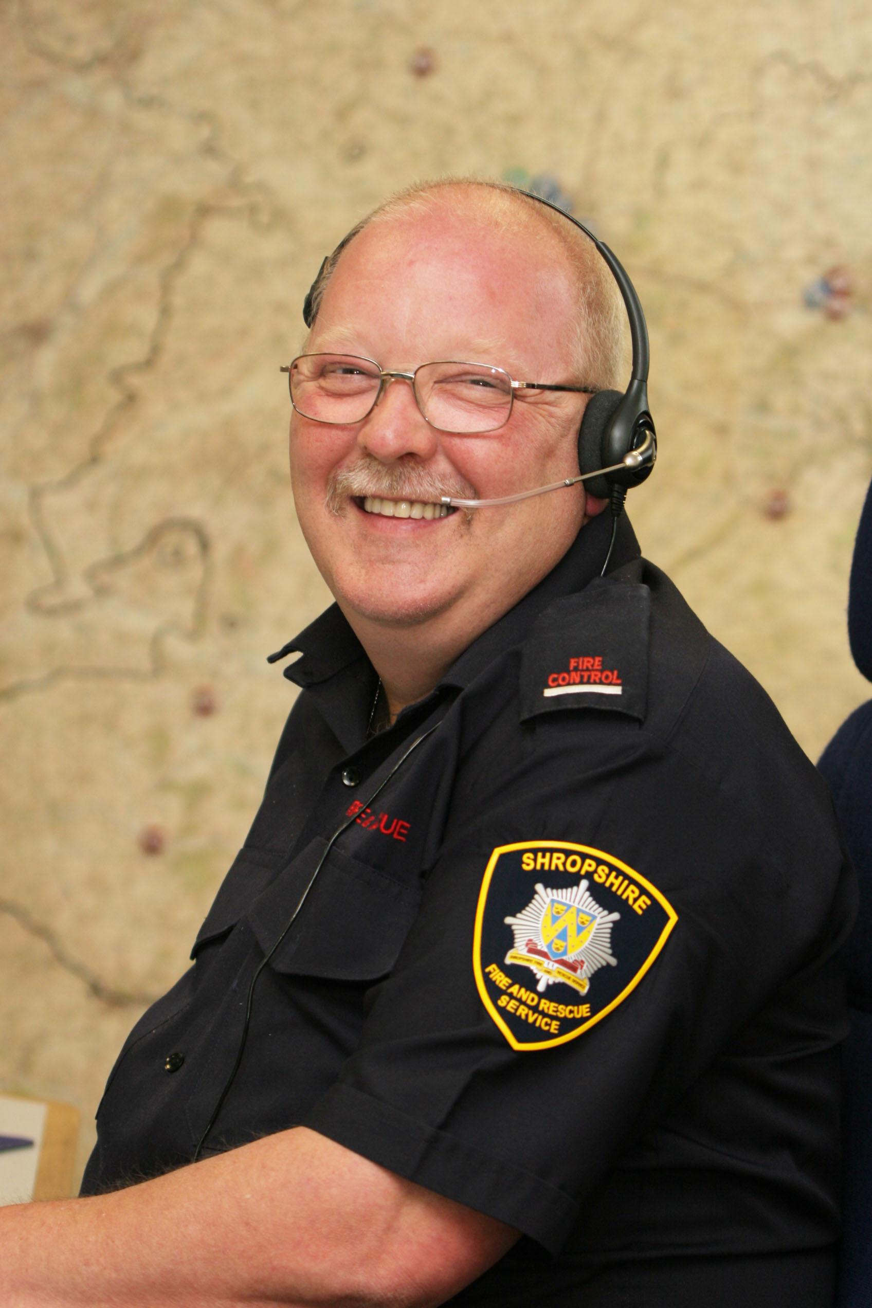 Ian Titley in fire control at Shrewsbury