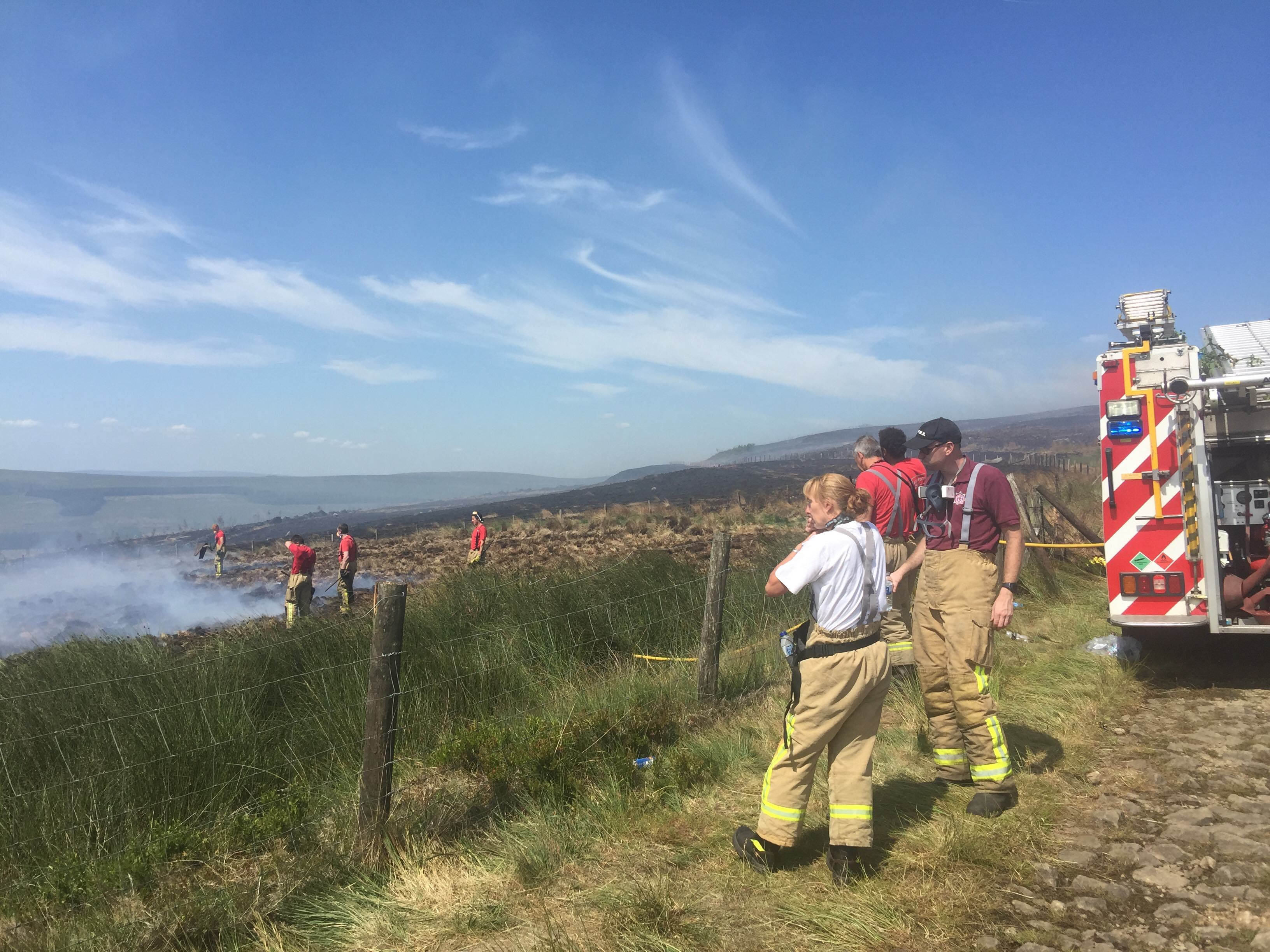 Shropshire Firefighters Called to Lancashire Moorland Blaze