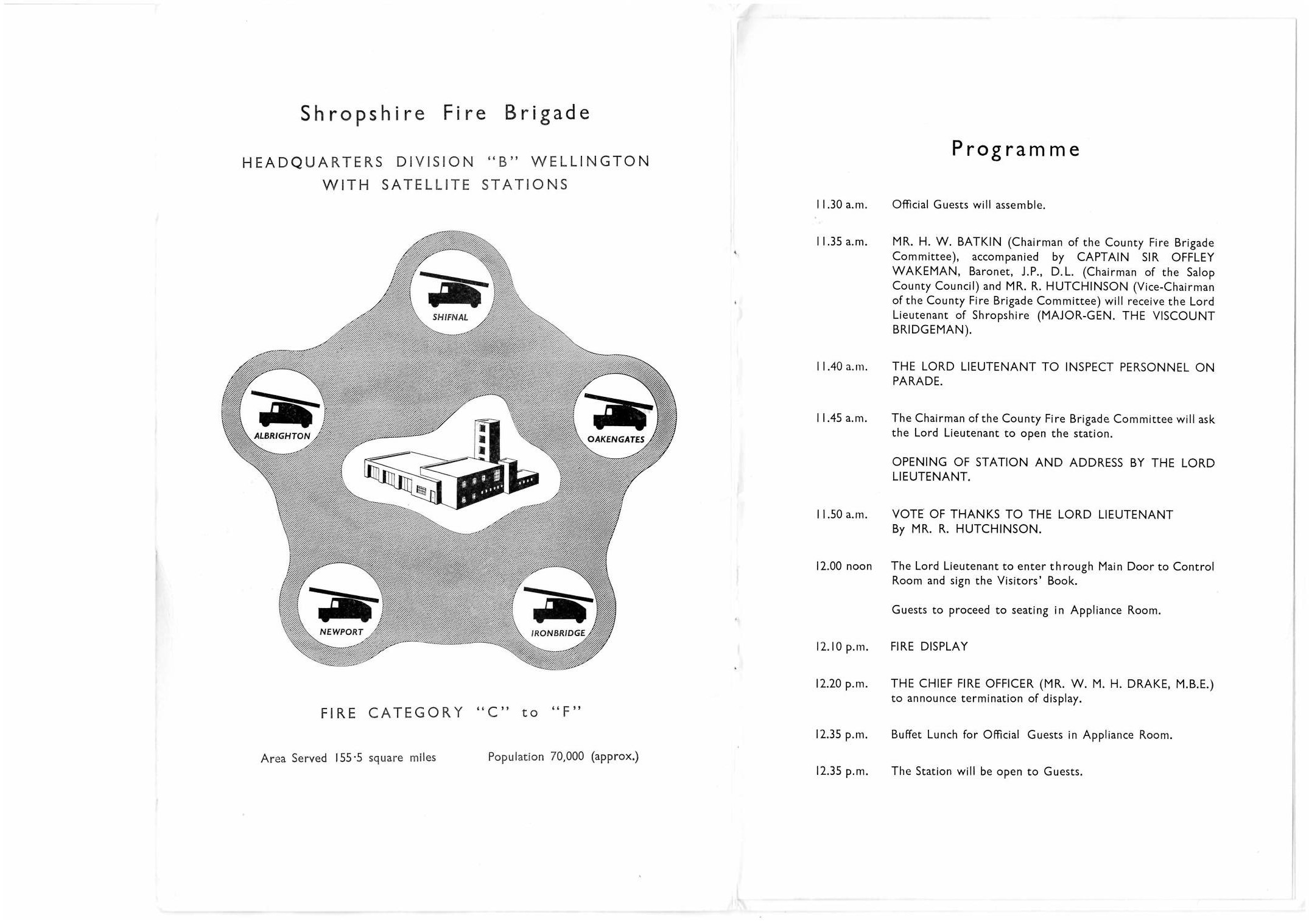 Found on ebay: The original 1953 programme for the opening of Wellington Fire Station