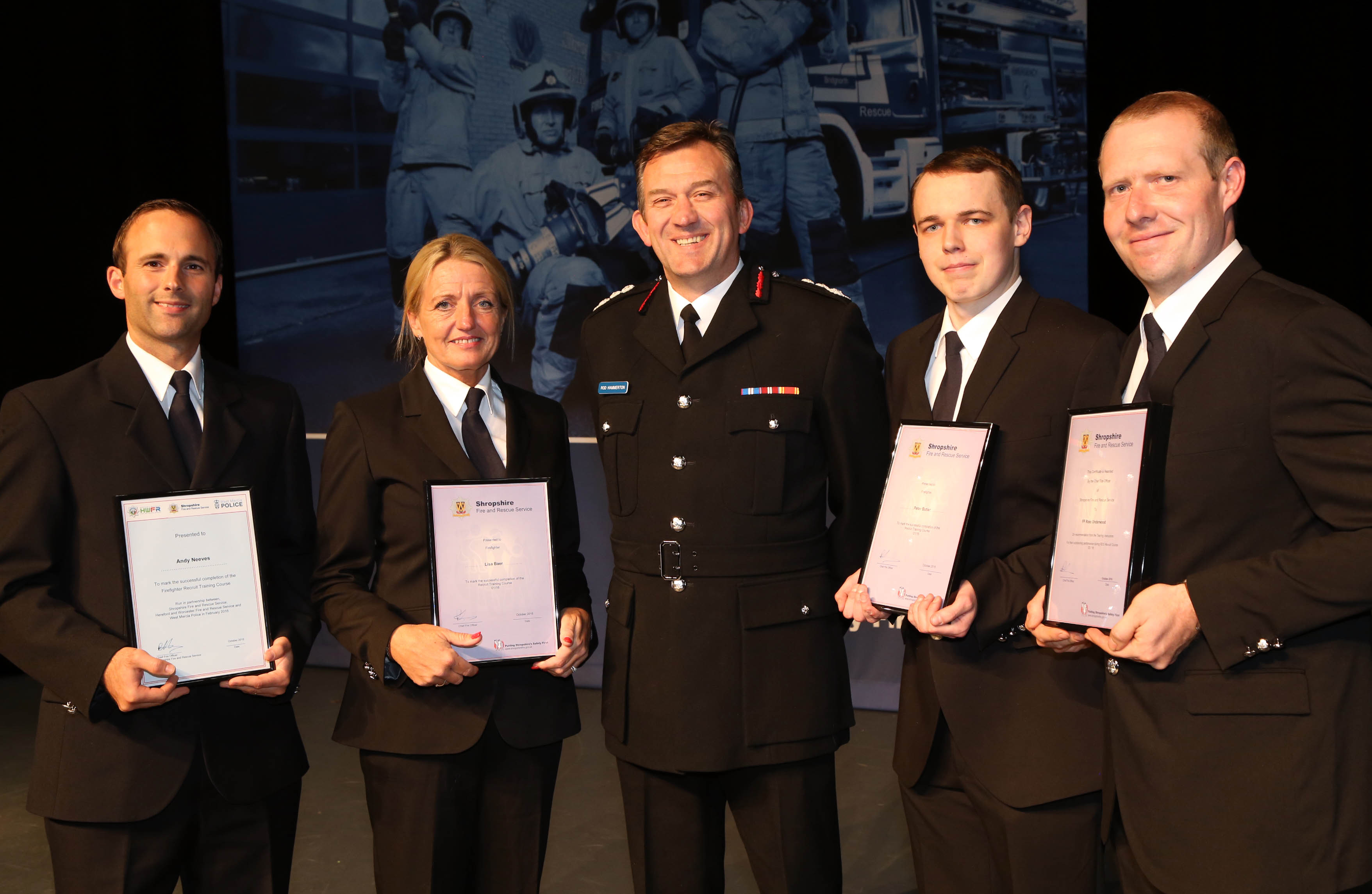 Also featured were firefighters Andy Neeves, a Police CSO from Oswestry; Lisa Baer, from Prees, who joined when Prees firefighters helped her daughter in a road crash; Tesco fishmonger Peter Butler, from Ellesmere, and Hodnet Hall gardener Ross Underwood who won the instructors award for his course.