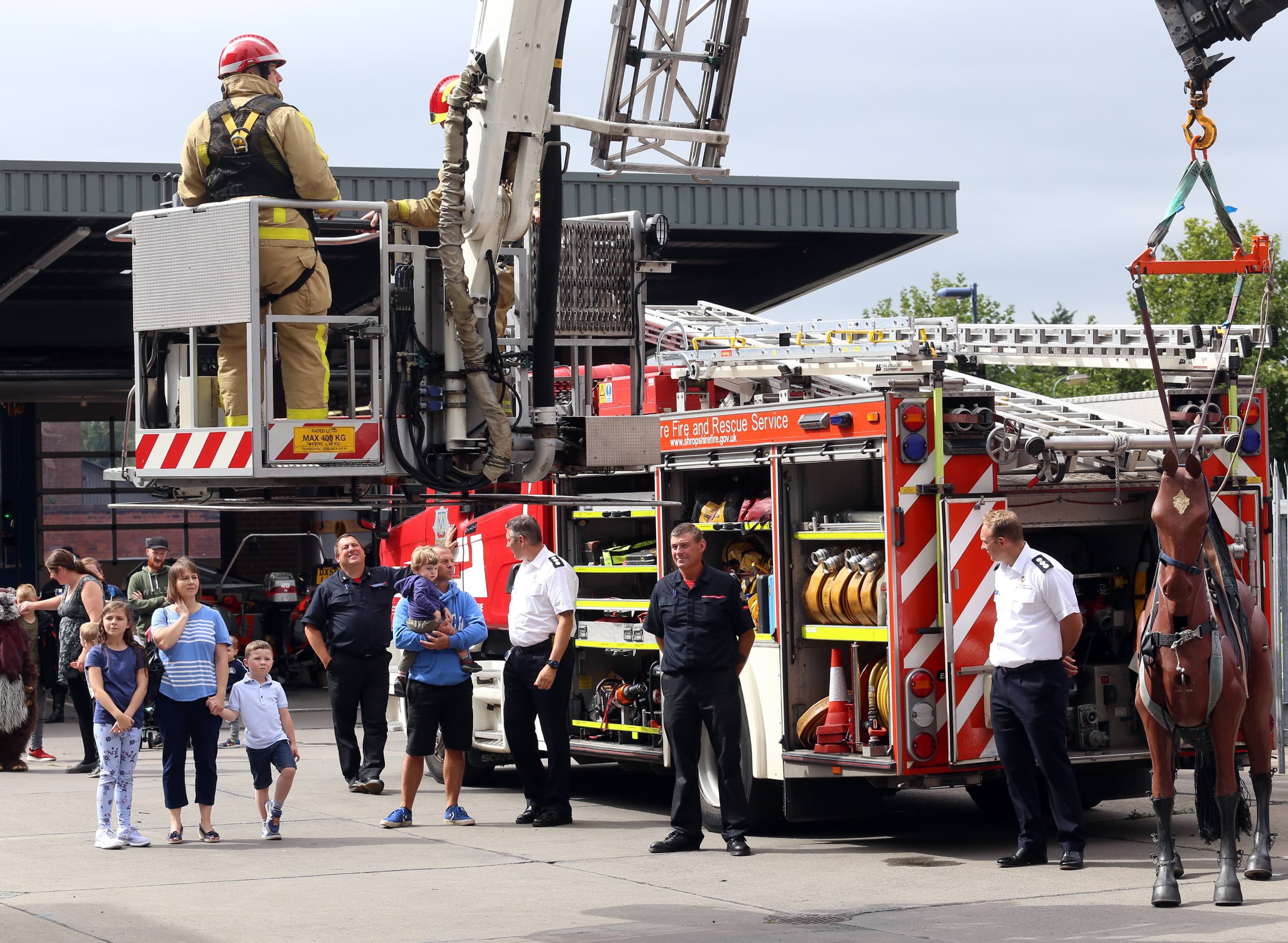 The Aerial Ladder Platform (ALP)begins its ascent.