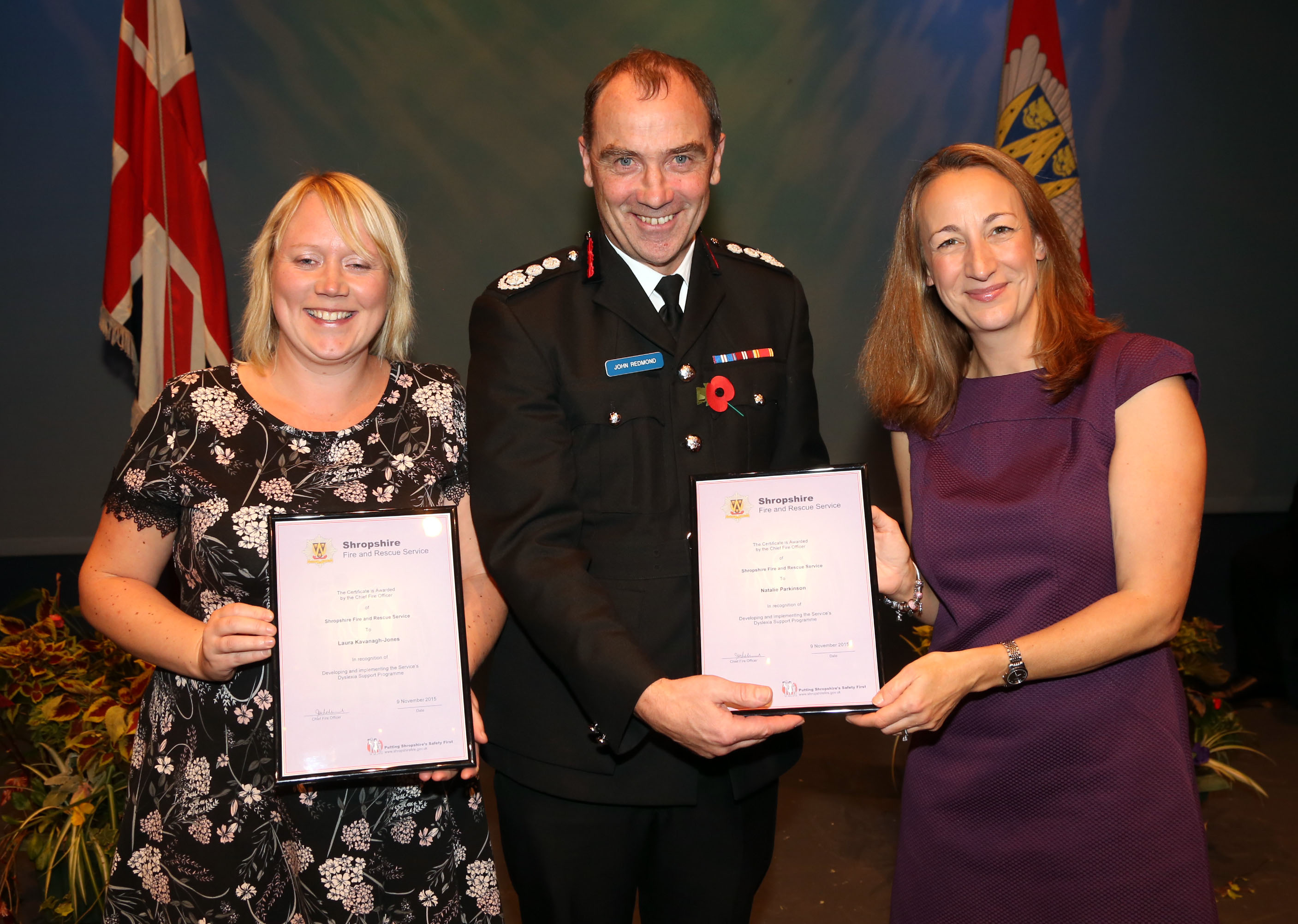 """Natalie Parkinson (right) and Laura Kavanagh-Jones were congratulated for their """"life changing"""" work on helping employees with dyslexia"""