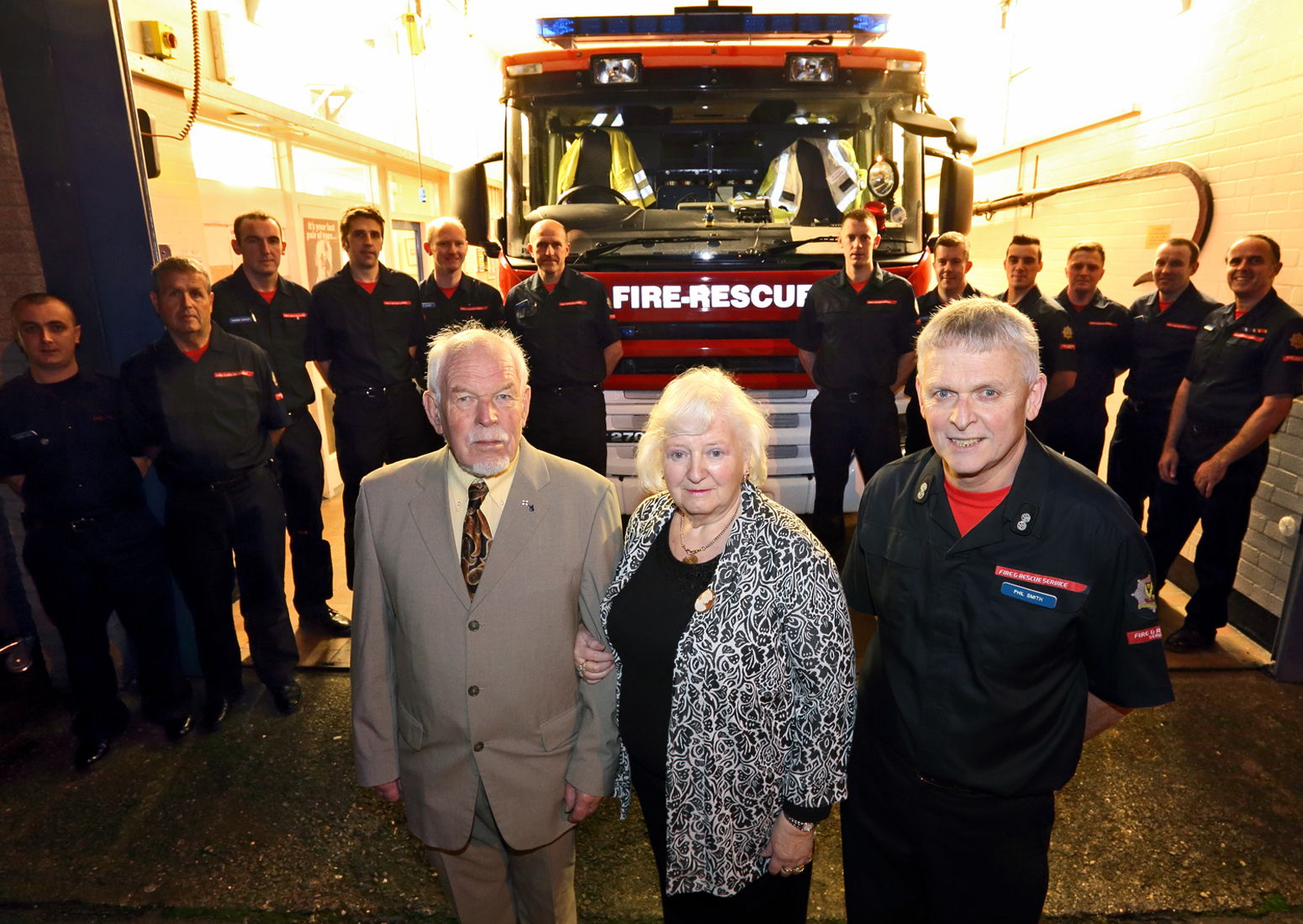 A BIG thankyou from John and Margaret Luce to Wem firefighters for saving his life