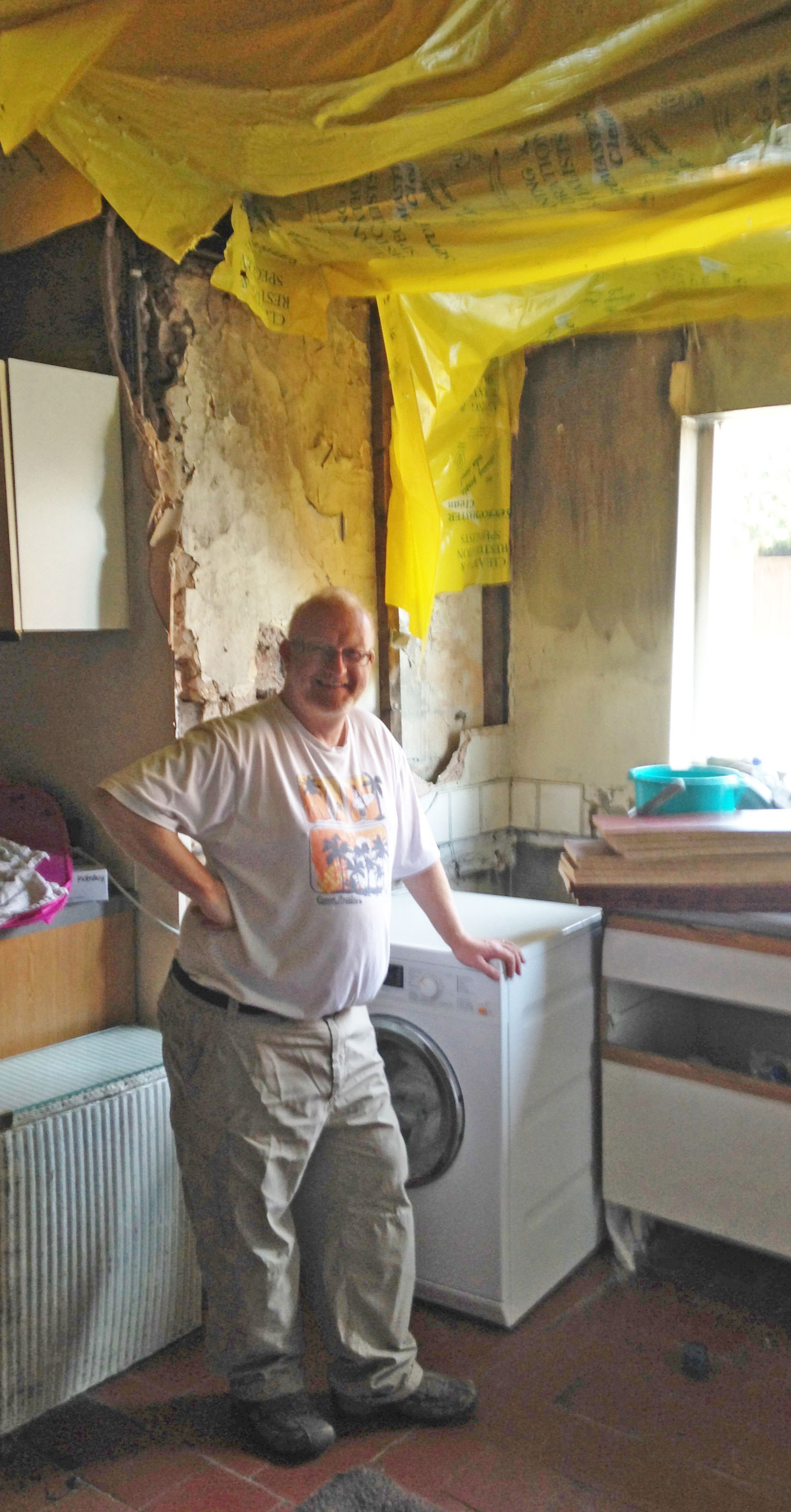 A washing machine fire caused £40,000 damage to Geoff Williams's historic 18th century Shropshire home