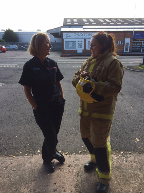 Firefighter Ruth Walkerdine chats to Property Manager Camilla Edwards about how she enjoys working as a firefighter