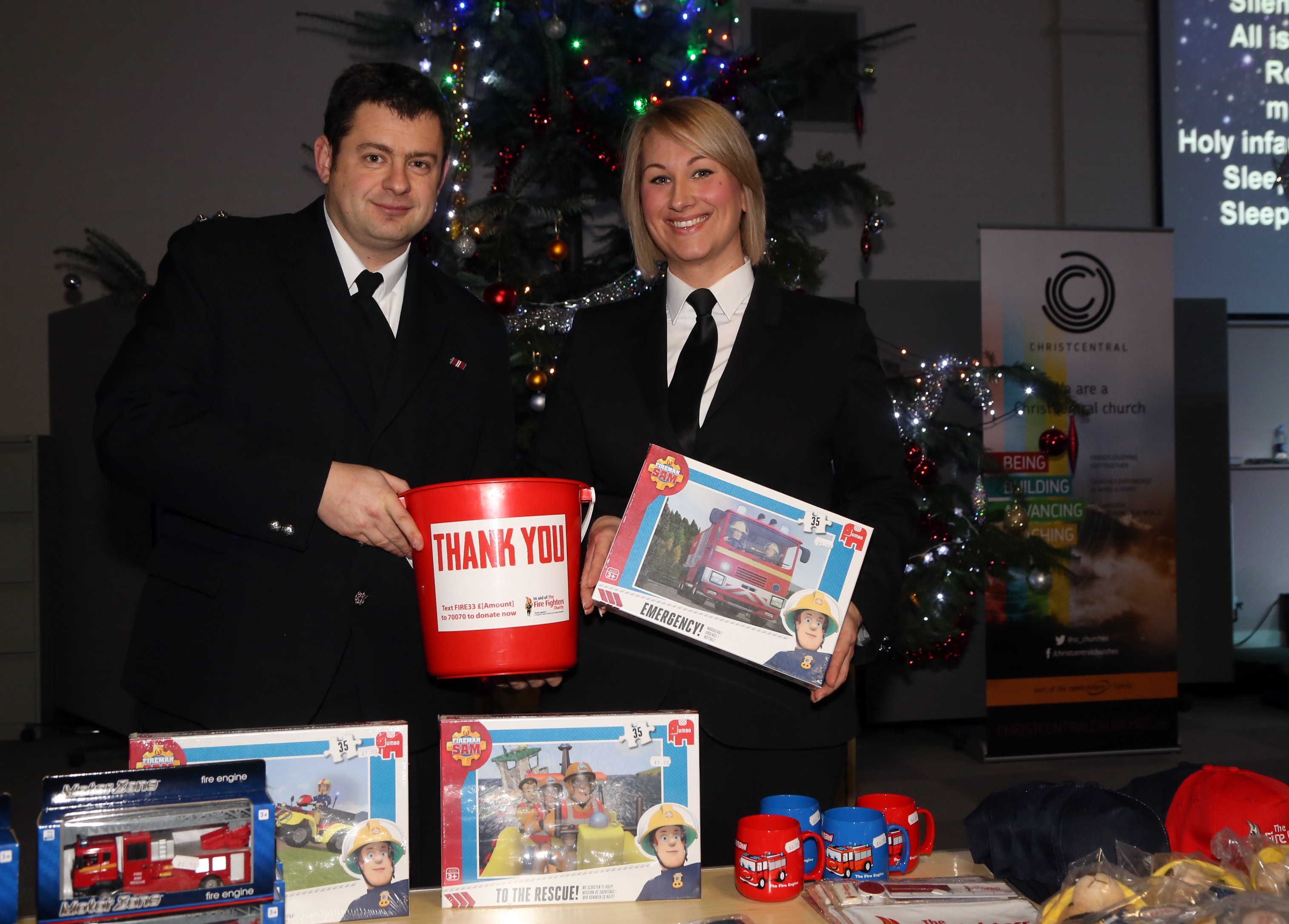 Funds were raised for the Firefighters Charity