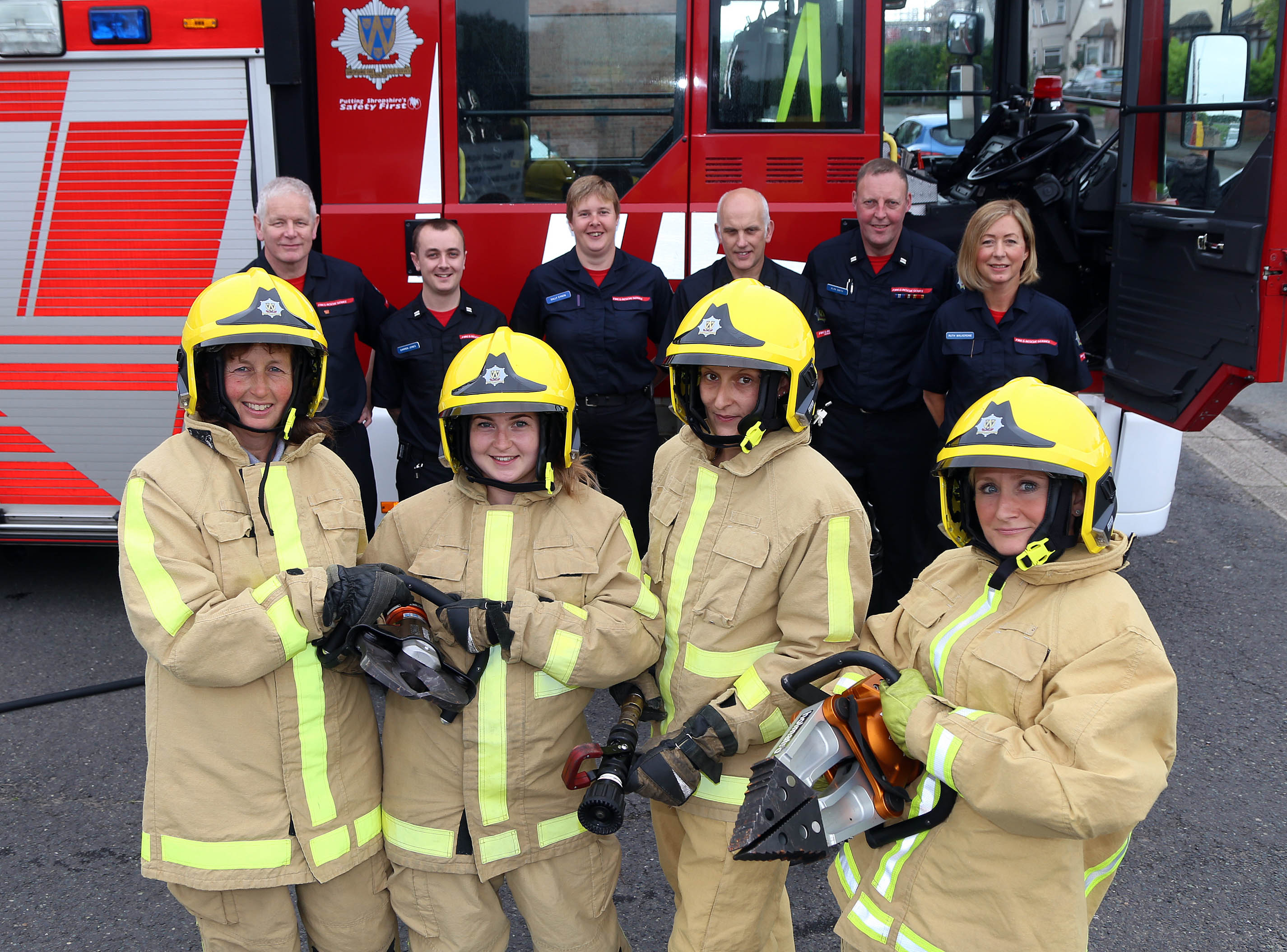 """The """"taster"""" day for firefighters at Prees Fire Station"""