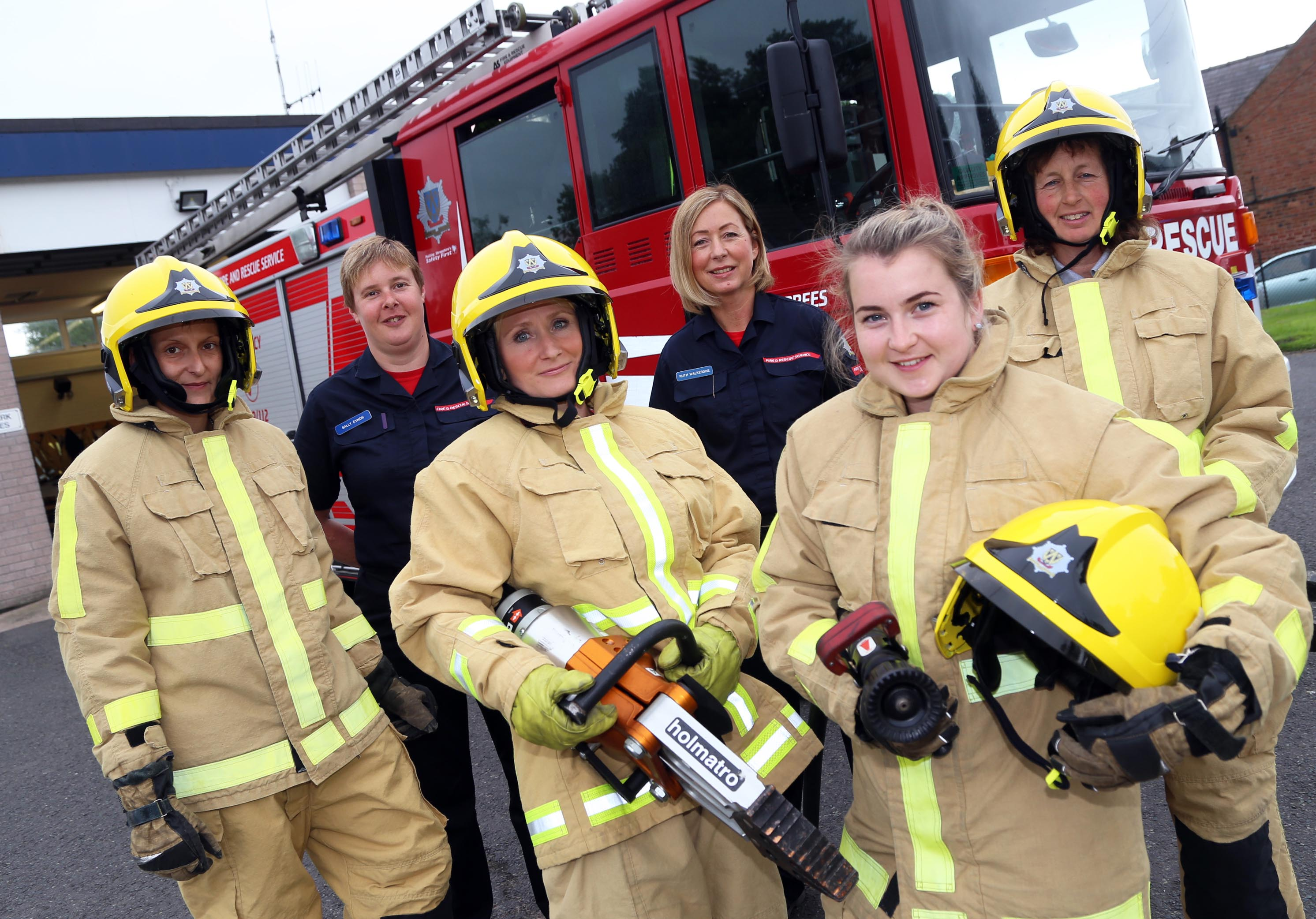 Women at a taster day with Shropshire firefighters held in Prees in 2016