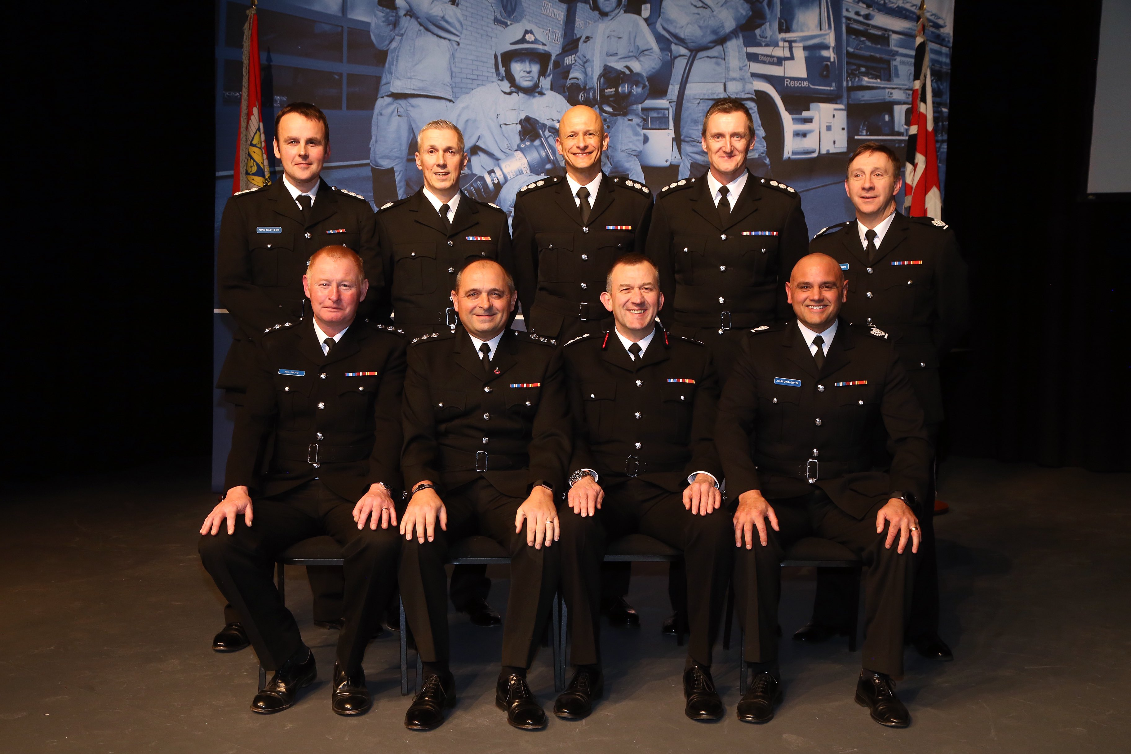 Senior officers at Shropshire Fire and Rescue Service at the Celebration of Success event