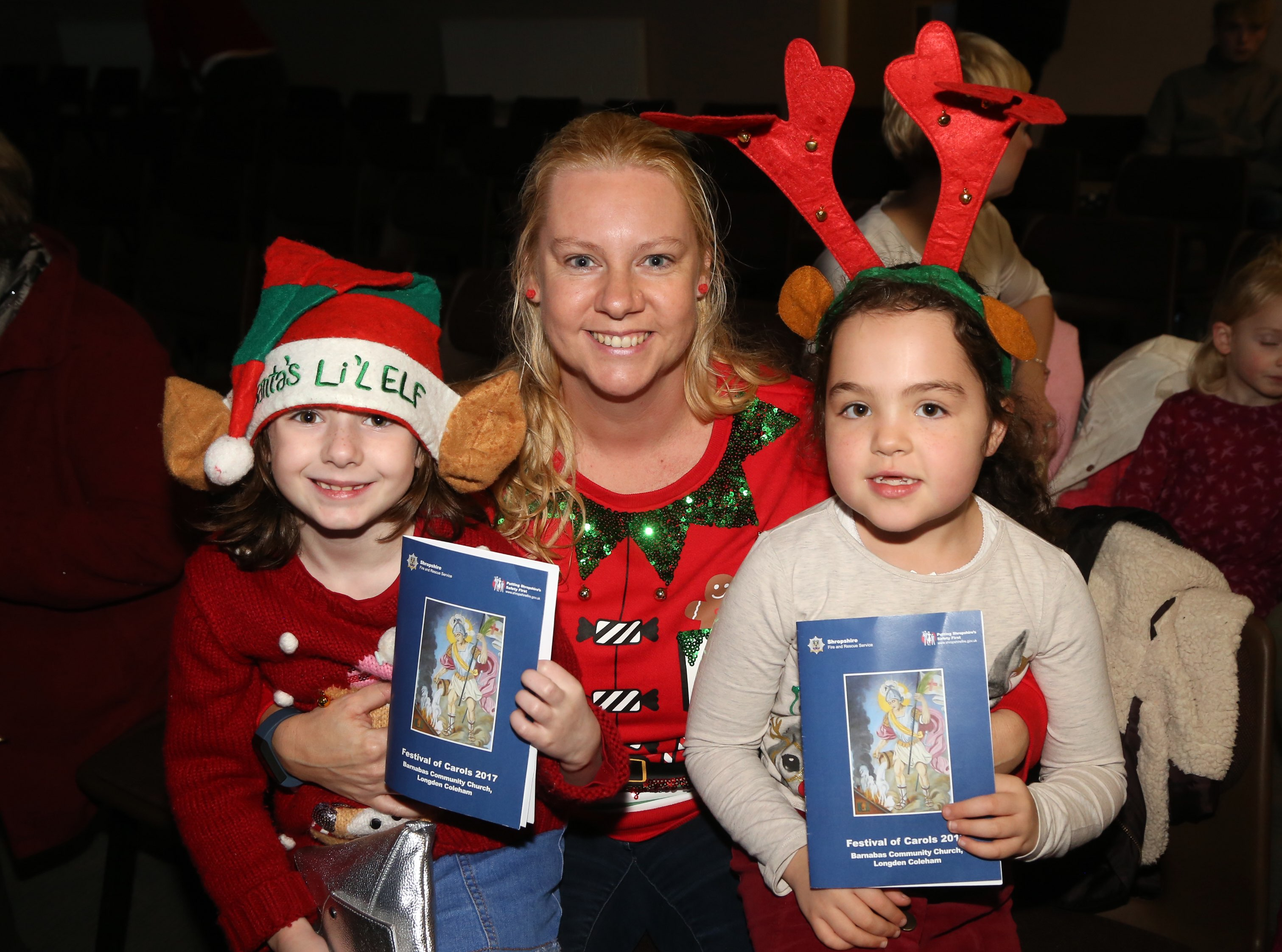 Fun for little ones at Shropshire Fire and Rescue Service's Festival of Carols