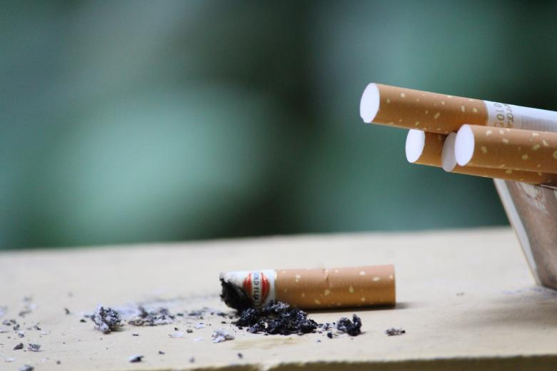 Cigarettes stubbed out