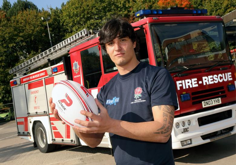 Ludlow firefighter George Jacks has been picked to play for the fire service's national rugby team for a third time.