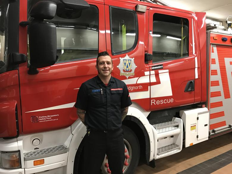 Bridgnorth firefighter Luke Veal takes part in Guiness Book of Record rugby match