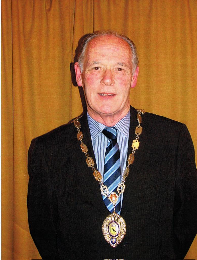 Former Market Drayton mayor Roger Smith