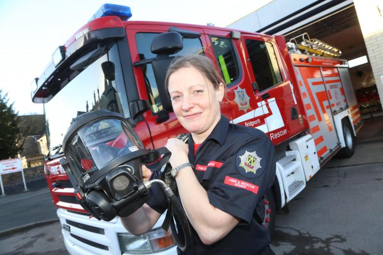 Bridgnorth firefighter Alice Stanley who helped to save a life on her first emergency call