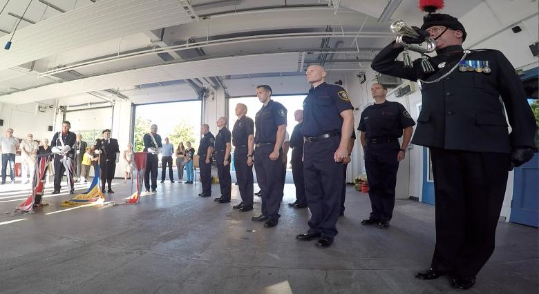 Bugler plays 30,000th Last Post tribute at Wellington Fire Station