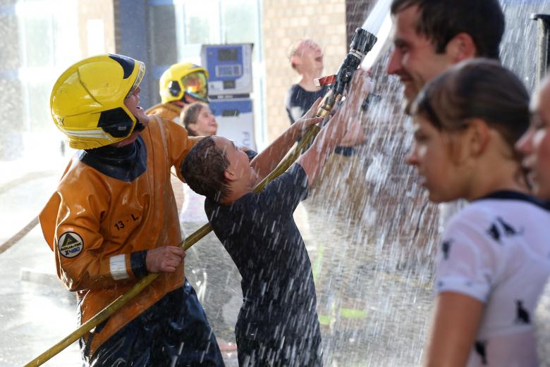 Fun and laughter for children from Chernobyl at Shrewsbury Fire Station