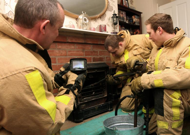 Firefighters in chimney fire checks in Shropshire home
