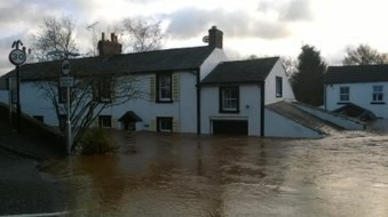 This is what Shropshire boat crew faced when they went to help rescue householders in Cumbria
