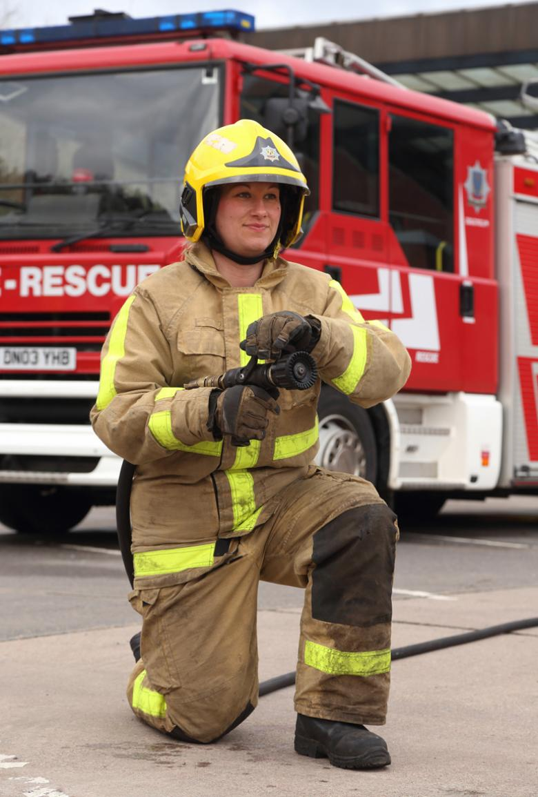 Kat Frost became a Shropshire firefighter after attending a previous taster day