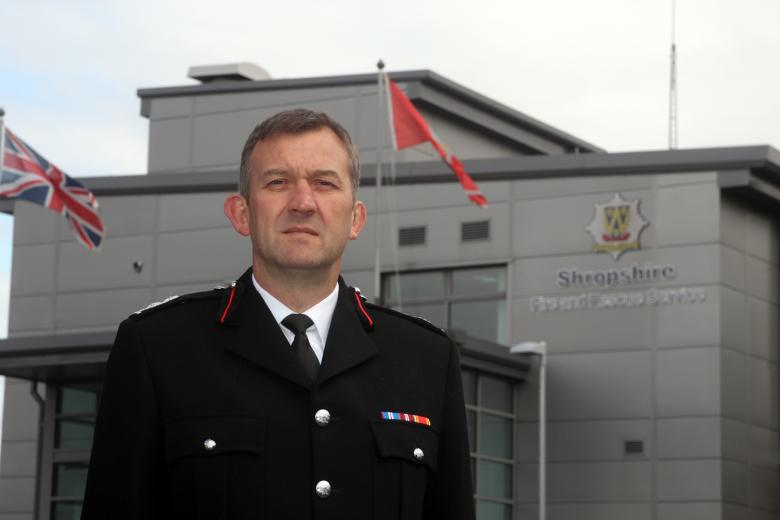 Shropshire's Deputy Chief Fire Officer Rod Hammerton
