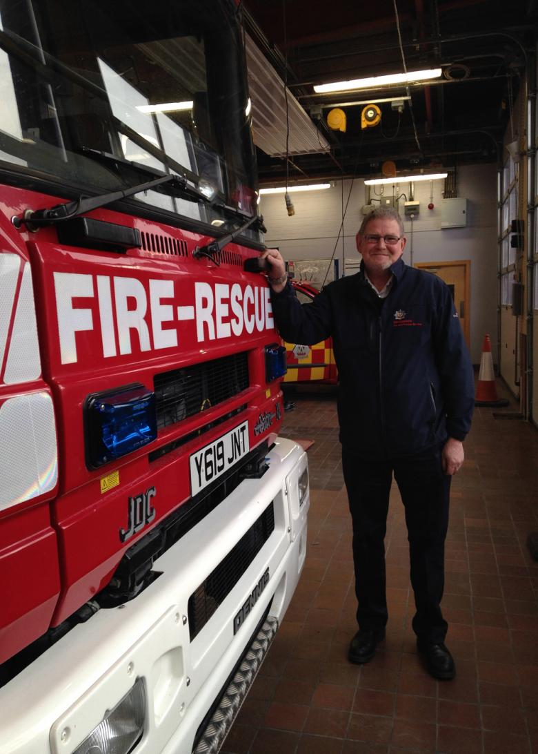 Ex-firefighter Sam Hamer from Shropshire Fire and Rescue Service helping the vulnerable