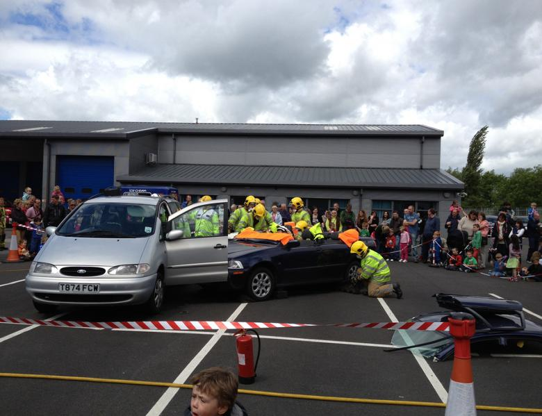 Firefighters will put on dramatic demonstrations including rescuing casualties from a road traffic collision at Telford Fire Station's open day tomorrow (July 8)