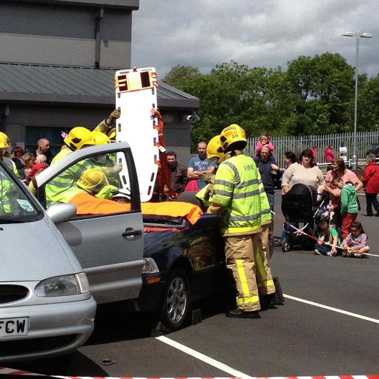 Firefighters will show how they extricate people in a road collision at Shrewsbury Fire Station at their open day on August 18. Picture shows firefighters in action at last year's open day.